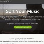 Sort Your Music, listas de Spotify organizadas por las características de sus canciones