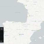 Descubrir y escuchar canciones relacionadas con lugares en un mapa interactivo