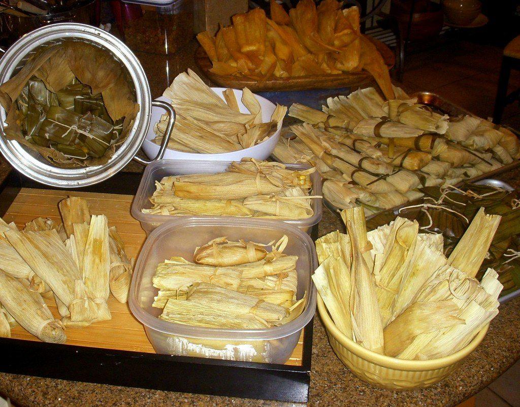 que comian los mayas tamales
