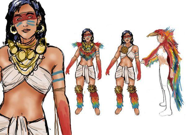 vestimenta mujeres mayas