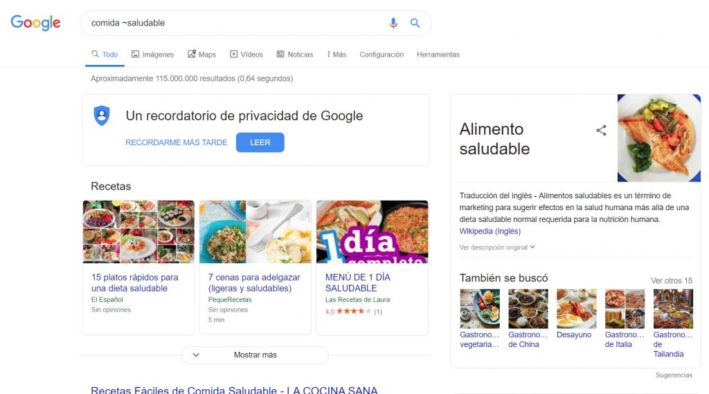 comando google ~