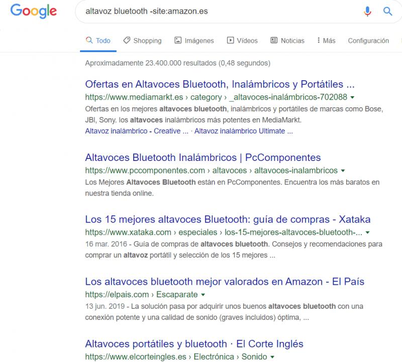 comando google -