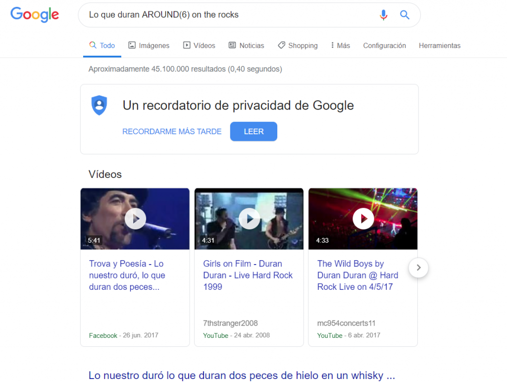 comando google around