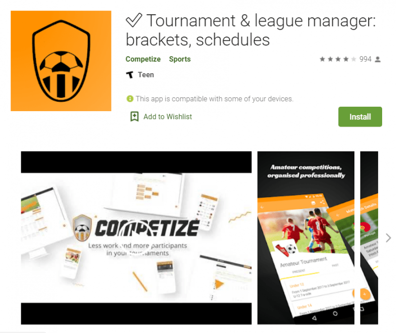 Tournament and league manager