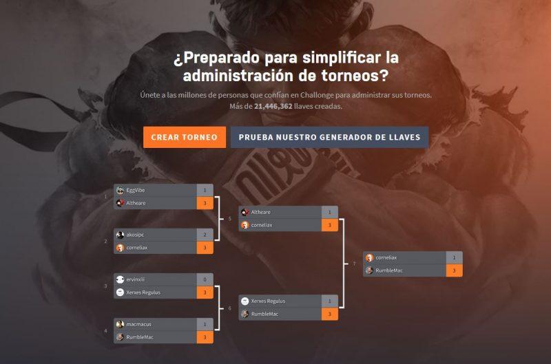 paginas webs y app para crear torneos gratis